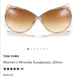 Tom Ford Women's Miranda Sunglasses *worn once*